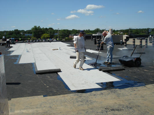 Built Up Roof Installation : Commercial roofing service